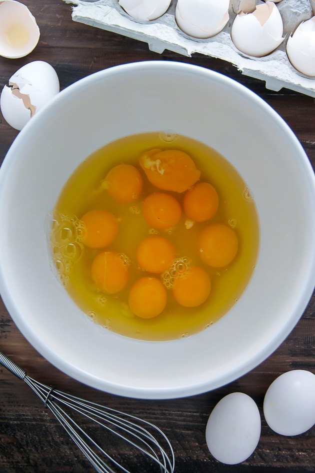 Crack eggs into a medium-large bowl.
