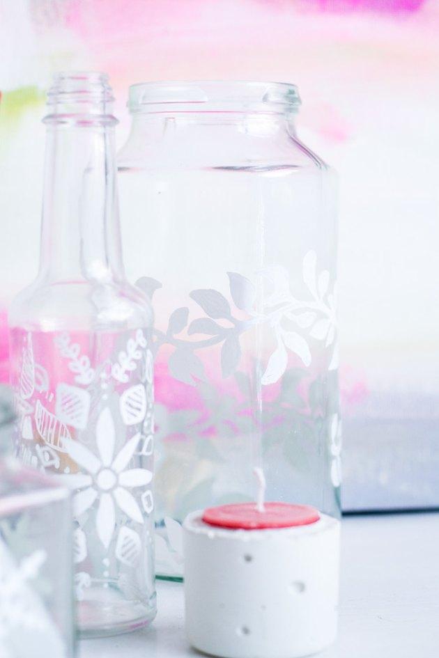 DIY Decorated Glass Jars