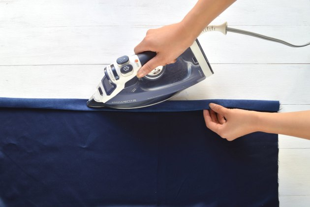 Press the fold with an iron
