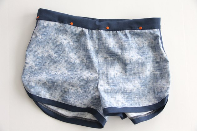 pin waistband to inner shorts