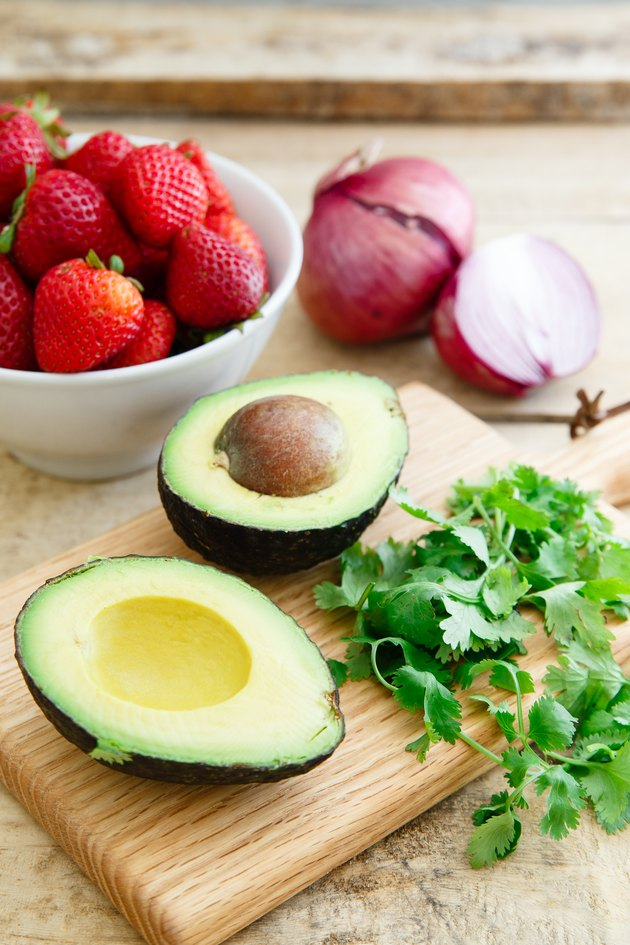 Strawberry avocado salsa ingredients