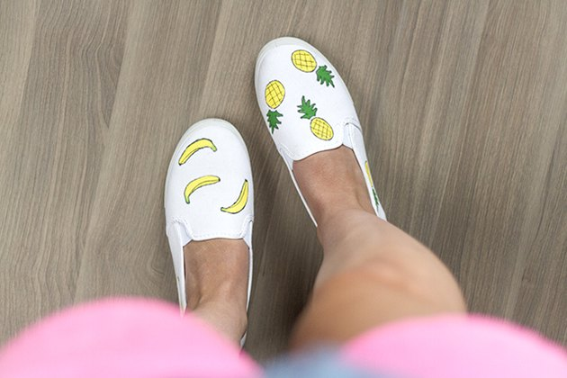 Fruity painted canvas shoes