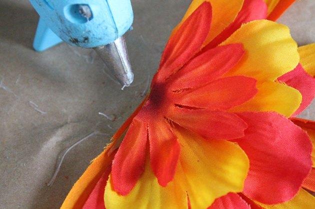glue petals together