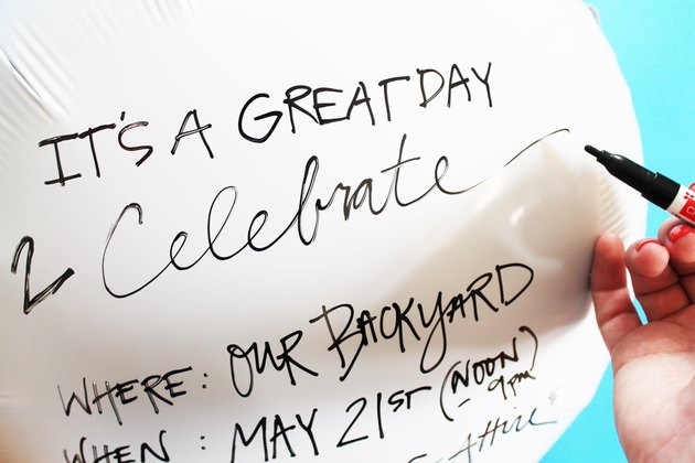 Write on mylar balloons