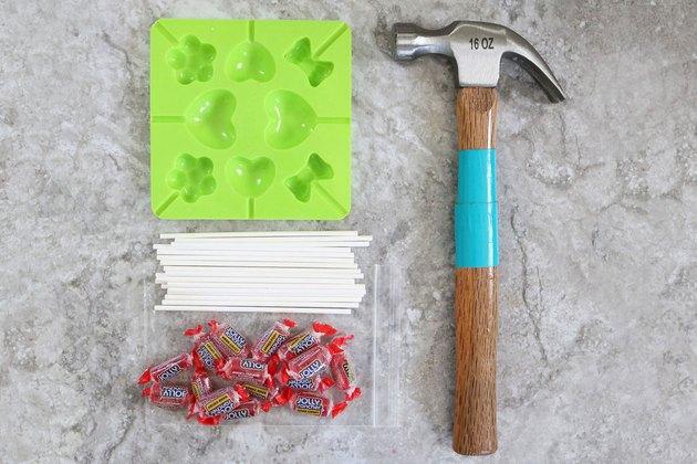 Supplies for cinnamon heart lollipops