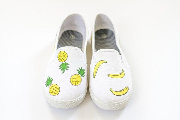 paint ink fruit shoes