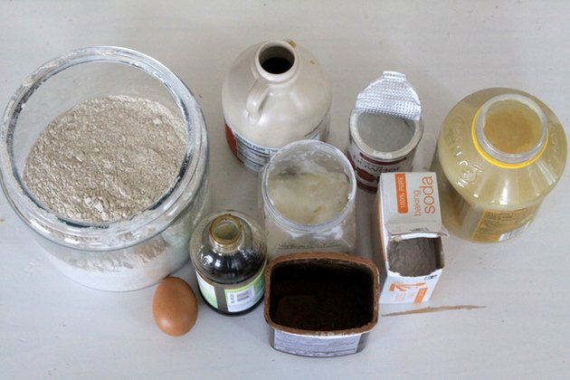 Ingredients for healthy brownies
