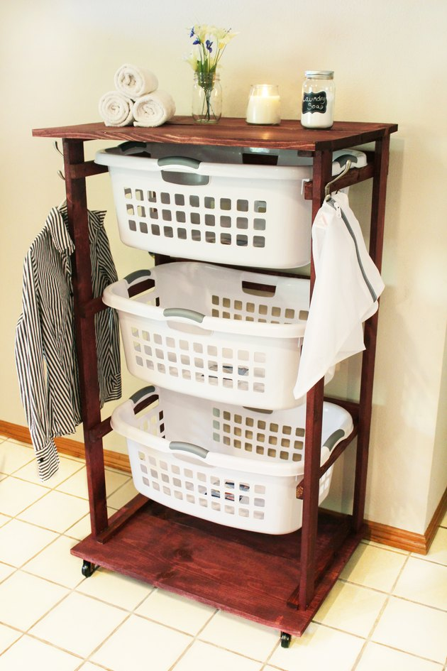 Fully functional rolling laundry cart