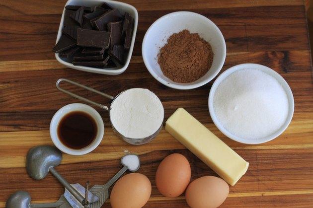 Ingredients for brownies