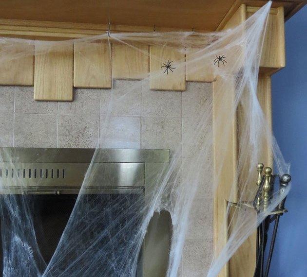 Spooky spider webs for Halloween.