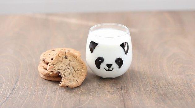 DIY Hand Painted Panda Milk Glasses