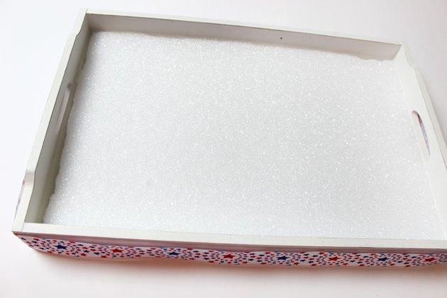 foam in tray