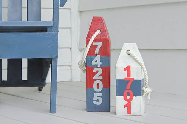 Choose an area to display your wooden buoys.