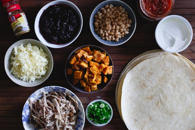 Turn Thanksgiving leftovers into a delicious enchilada dinner