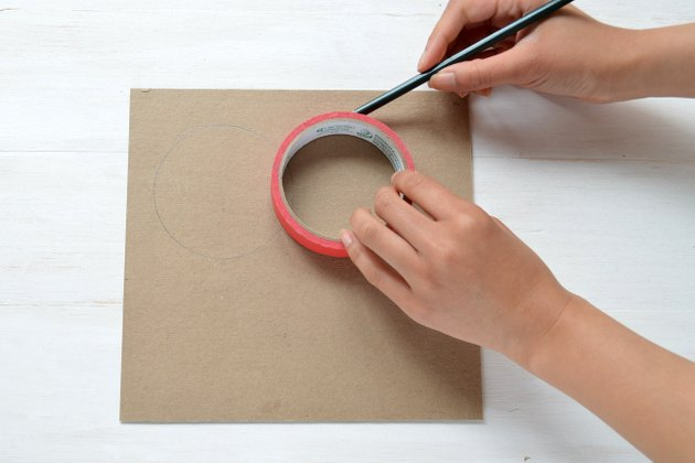 Trace the tape to make a second circle