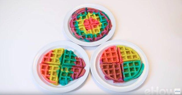rainbow waffles.