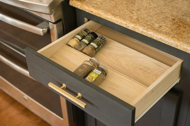 Spice drawer organizer.