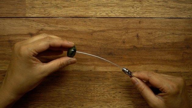Beading wire for DIY glass beaded garden sparkler.