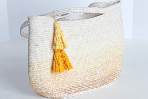 finished rope bag