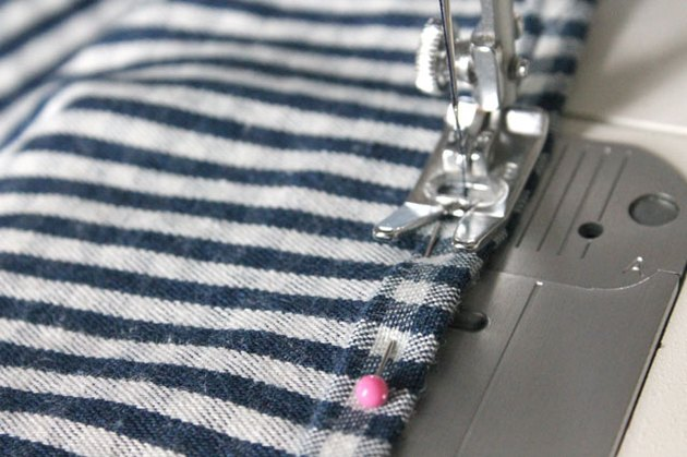 Sew the new hem.