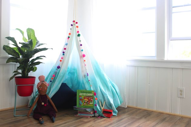 This fabric canopy is easy, affordable, and fun way to turn any corner into a magical hideaway!
