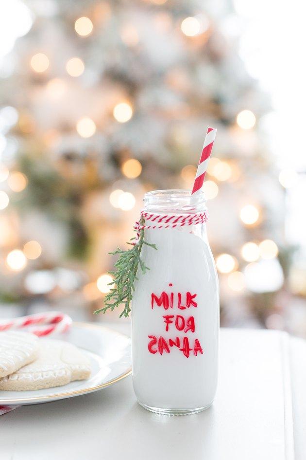 Milk for Santa bottle