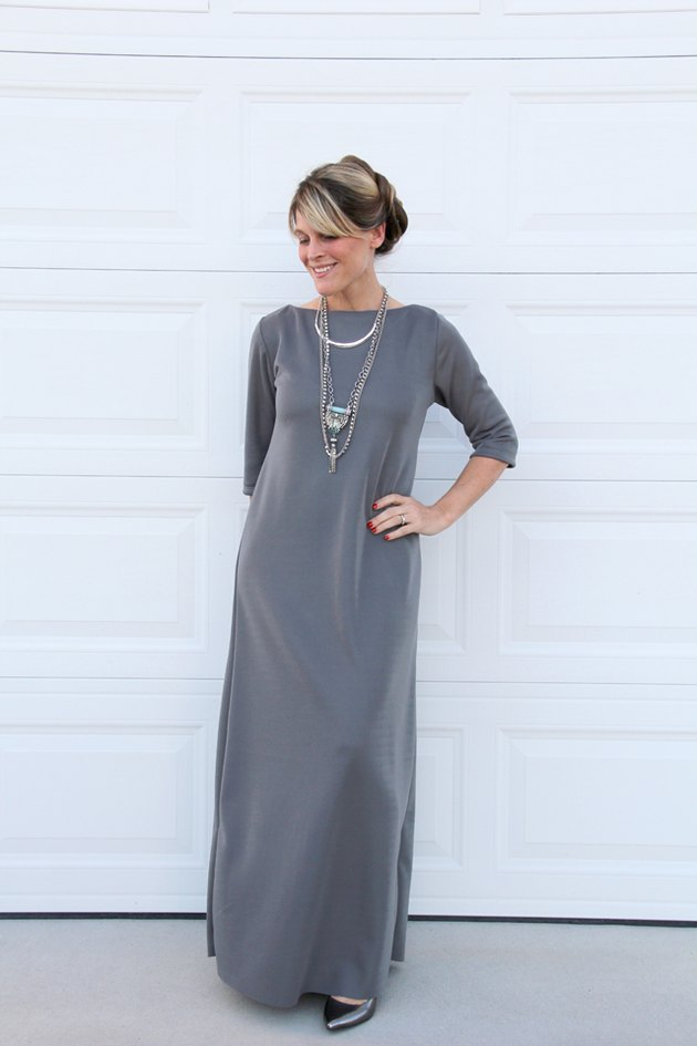 How to sew a classic maxi dress