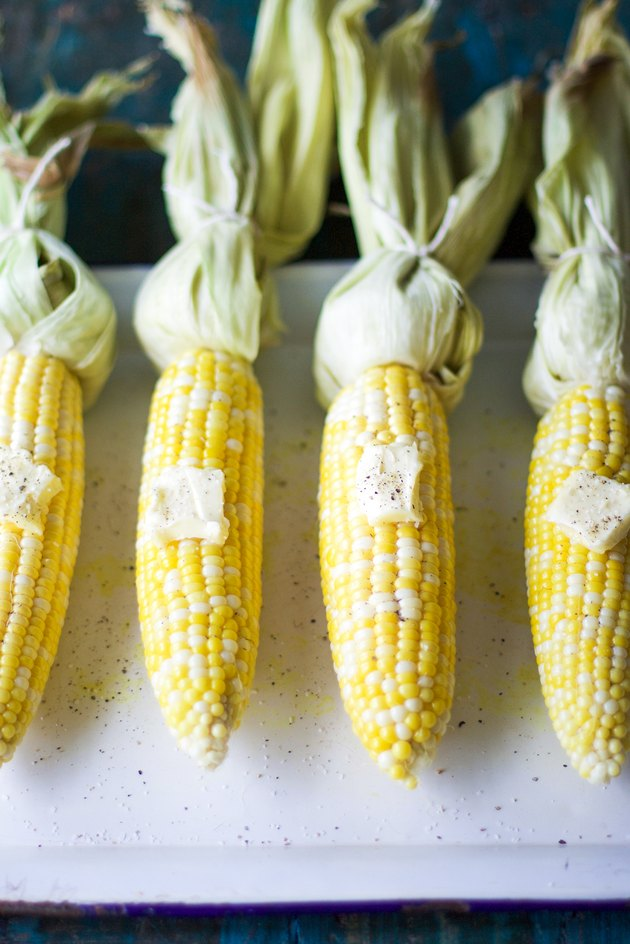Baked Corn on the Cob with Butter