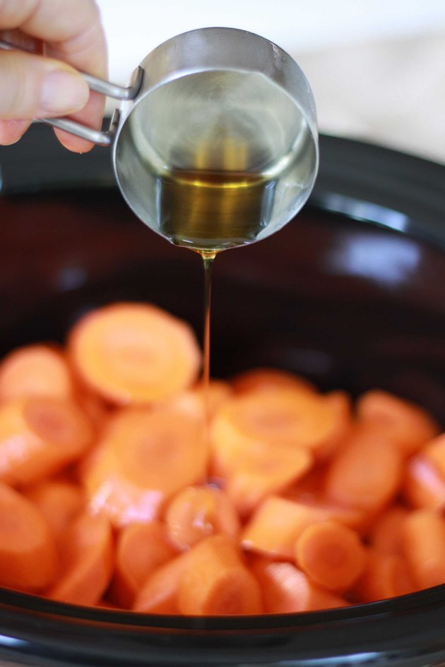 maple syrup on carrots