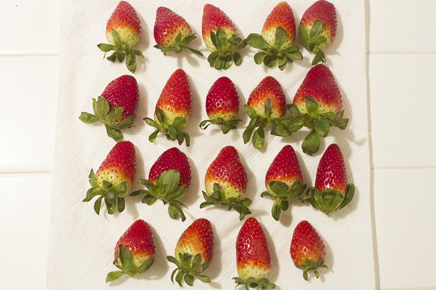 Set aside strawberries