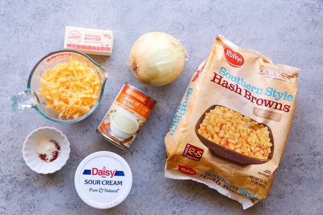 Ingredients for hashbrown casserole