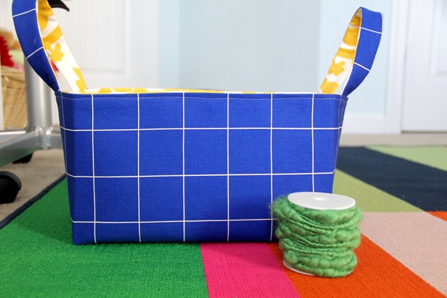 Reversible fabric basket DIY