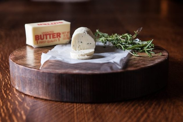 butter, herbs, and compound butter
