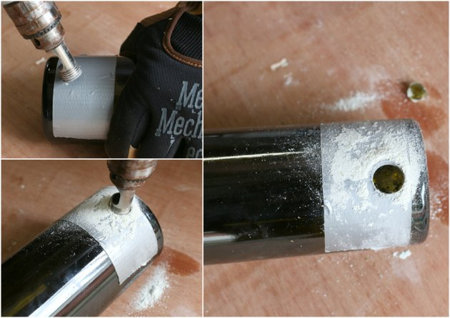 How to drill a wine bottle