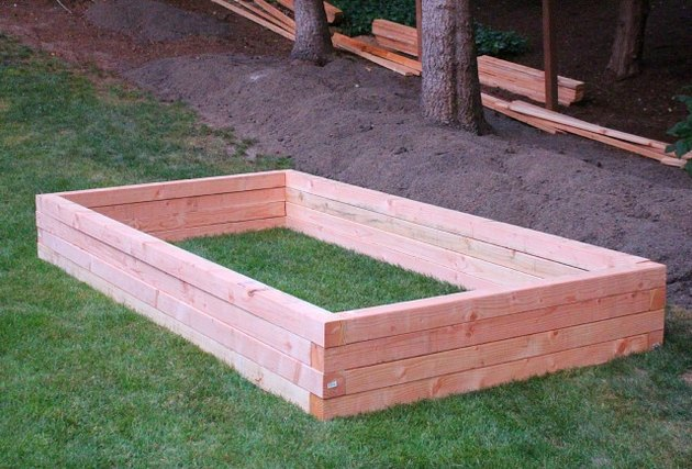 Completed garden box