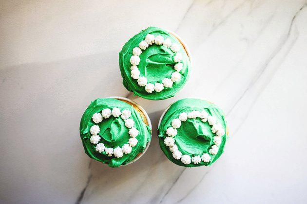 Everything tastes better with this brightly hued green colored frosting!