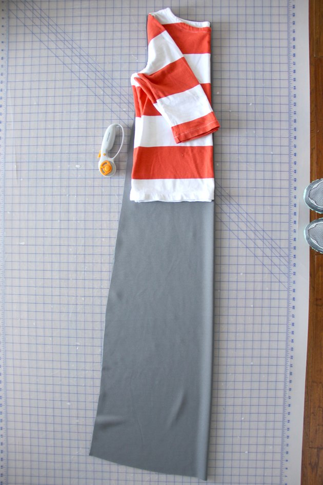 Cut around the T-shirt for your maxi dress pattern