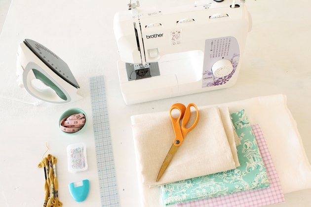 Supplies you'll need to make a modern baby quilt
