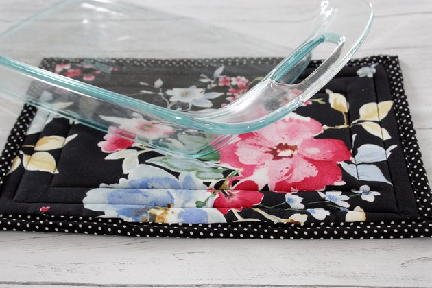 Create your own large hot pad to protect your table or counters from a hot casserole dish.