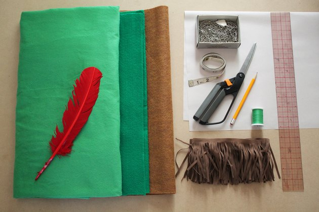 Supplies for a Peter Pan costume