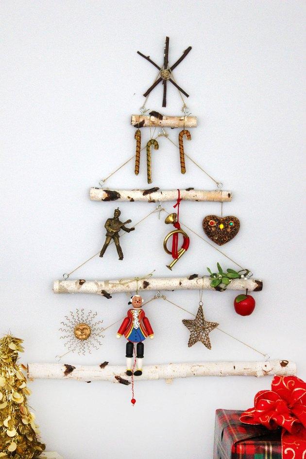 birch christmas tree