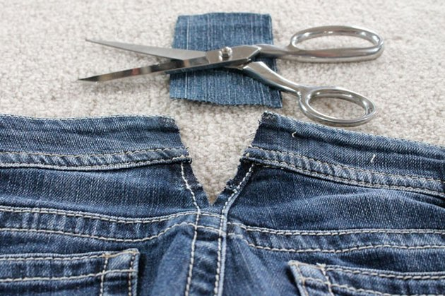 cut denim