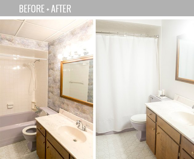 Before and After: The Easiest Way to Clean Grout