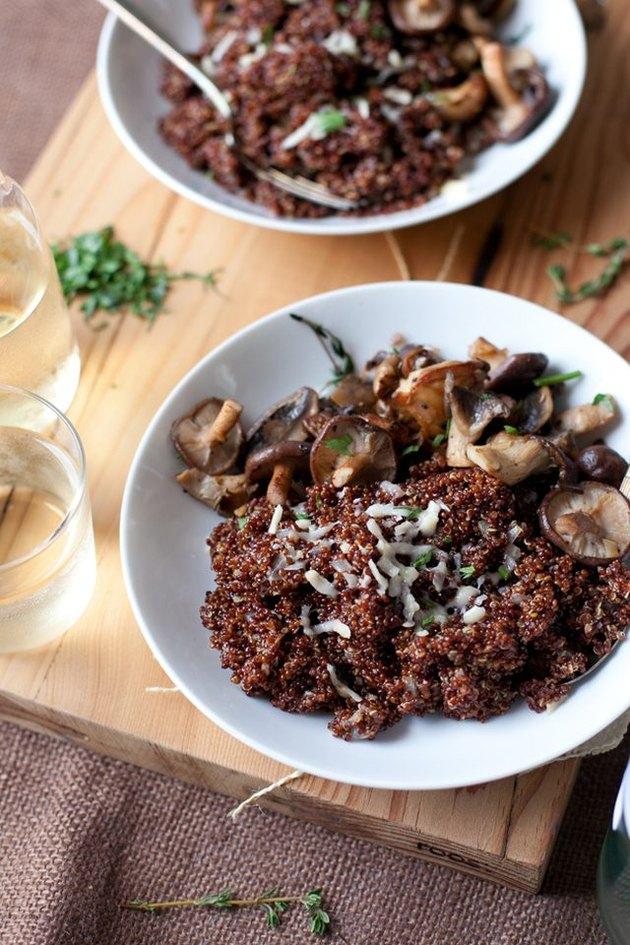 Mushroom quinoa risotto.