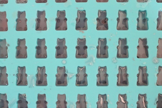 Gummy bears in mold