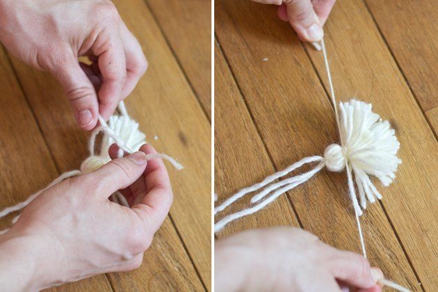 Tie the top of the tassel.