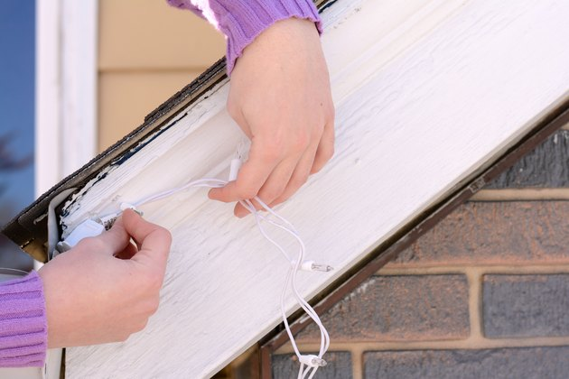 tips for hanging christmas lights on a steep roof  ehow