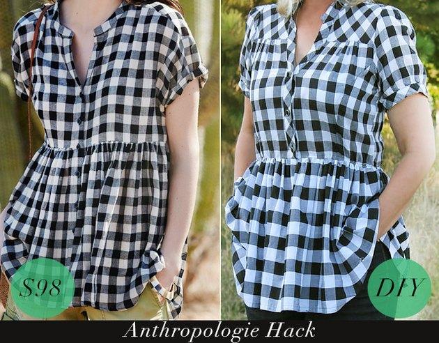 $98 Anthropologie swing shirt and DIY swing shirt