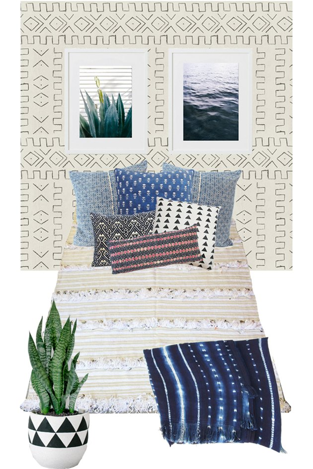 The Mock-up of your Bohemian Bedroom