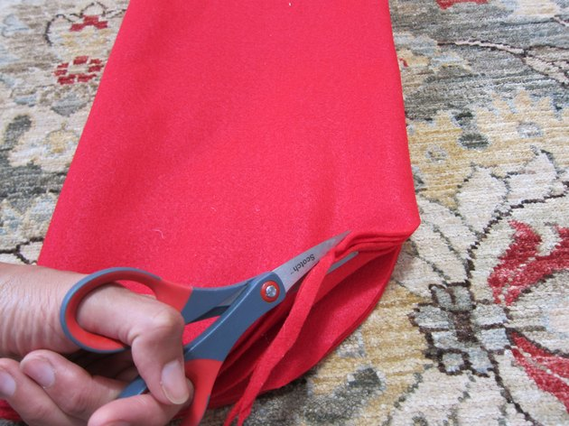 Cut and sew red felt